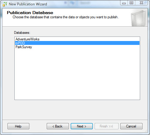 Create a Merge-Replication Publication